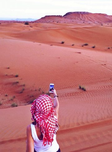 Woman in the desert - taking risks is important